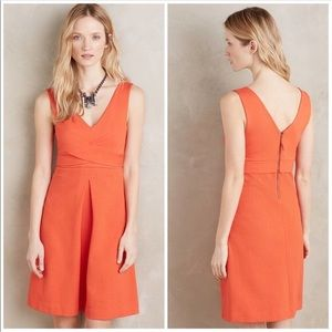 ANTHROPOLOGIE HD In Paris Orange Ardmore Dress